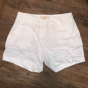J.Crew factory white shorts